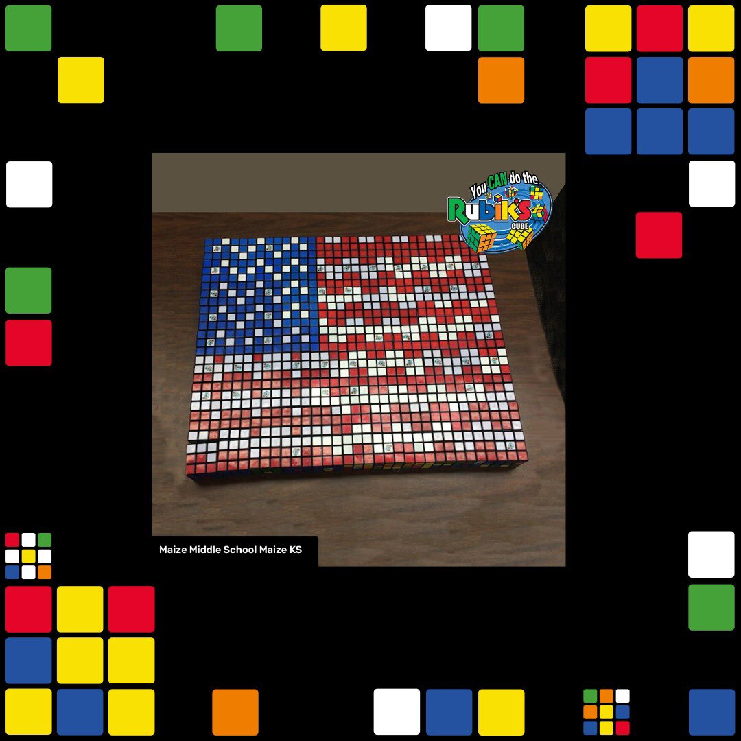 Happy 4th Of July! Check out these amazing #RubiksCubeMosaics made by schools in America from @YouCanDoRubiks 🇺🇸 #RubiksCube #AdventureEveryTurn #RubyRubiks 1/2 https://t.co/vmzIAoakfG