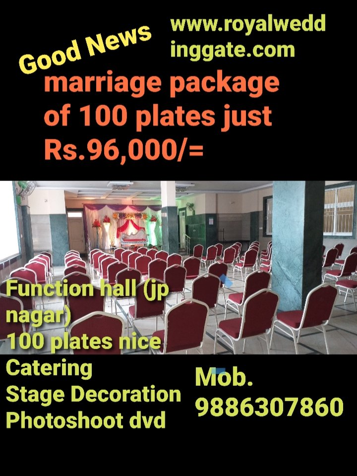 Amazing Marriage Package,  Rush immediately, Contact Royal Wedding Gate Co. http://www.royalweddinggate.com, mob 9886307860, Bangalorepic.twitter.com/oUBgz9arfg