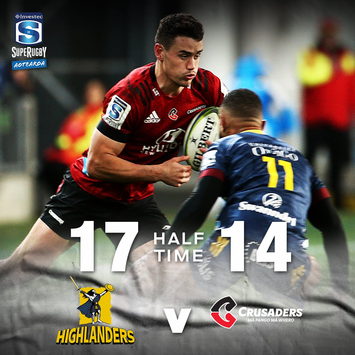We have a real battle on our hands in the South! Tune into @skysportnz for all the second half action. #HIGvCRU