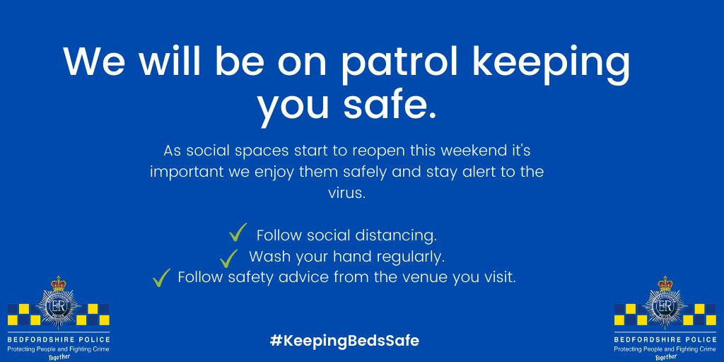 As social spaces start to reopen it's important we enjoy them safely and stay alert to the virus. Please continue to follow social distancing✔️, wash your hands regularly✔️ and if you're out, follow the safety advice from the venue✔️. #KeepingBedsSafe https://t.co/7OCIyRhAPK