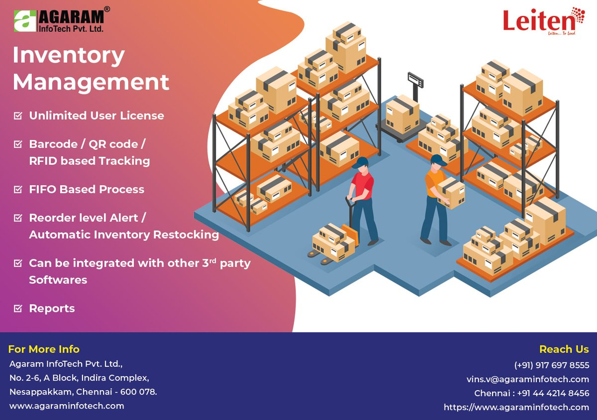 Get #InventoryManagement, #SparePartsManagement and #MaterialManagement Application in your #premises and control your Spare, #RawMaterial and #FGstocks through #AgaramInfoTech  #erp #business #industrial #smallbusiness #erpsoftware #inventorycontrol #production #purchasemanagerpic.twitter.com/VoPXJAvGE8