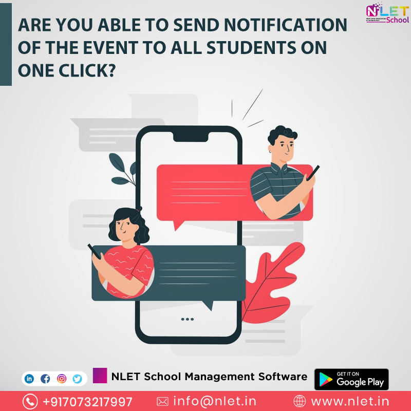 Cloud based school ERP software for all types of schools. #NLET #SchoolManagementSystem #software aims at easing administrative hassles and enhancing, efficiency and productivity.   https://bit.ly/2sRklQv  info@nlet.in  +91 7073217997  #erpsolution #erp #erpsoftware pic.twitter.com/oQAvExDCQO
