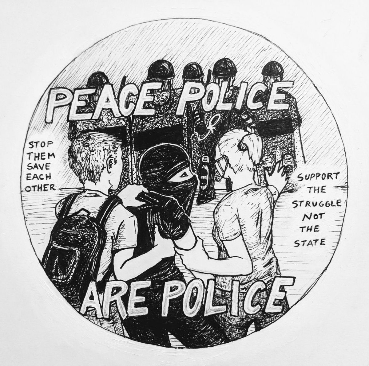 If you're gonna use violence to police other protestors, our fight is just as much with you as it is with the cops on uniform; you just do that shit for free. The pigs don't need any help. Anyone ready to fight a fellow protestor before the police is on the other side. full stop. pic.twitter.com/oH1TCbcWKJ  by PNW Youth Liberation Front