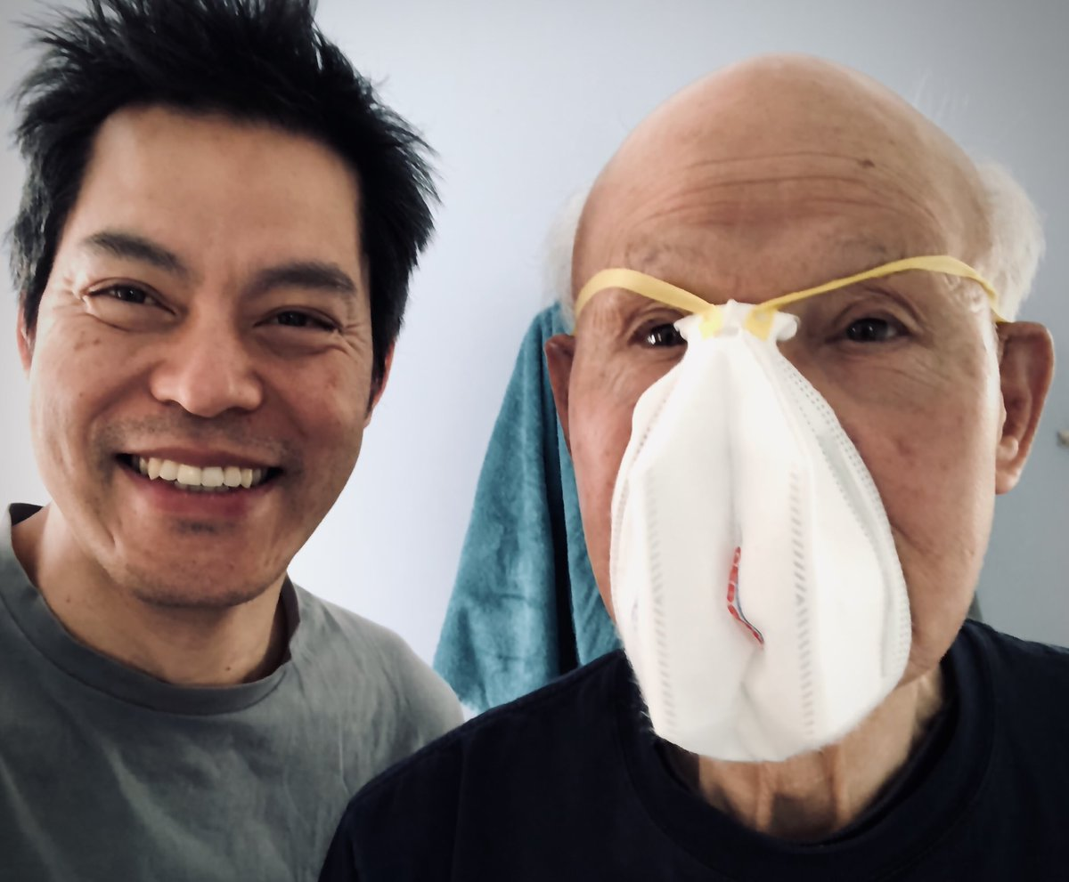 Awesome to see Papa Fong. Can't lie: his PPE training has been a challenge. Stay safe today. Lots at stake. #Covid19 #SuperSaturday #NHS