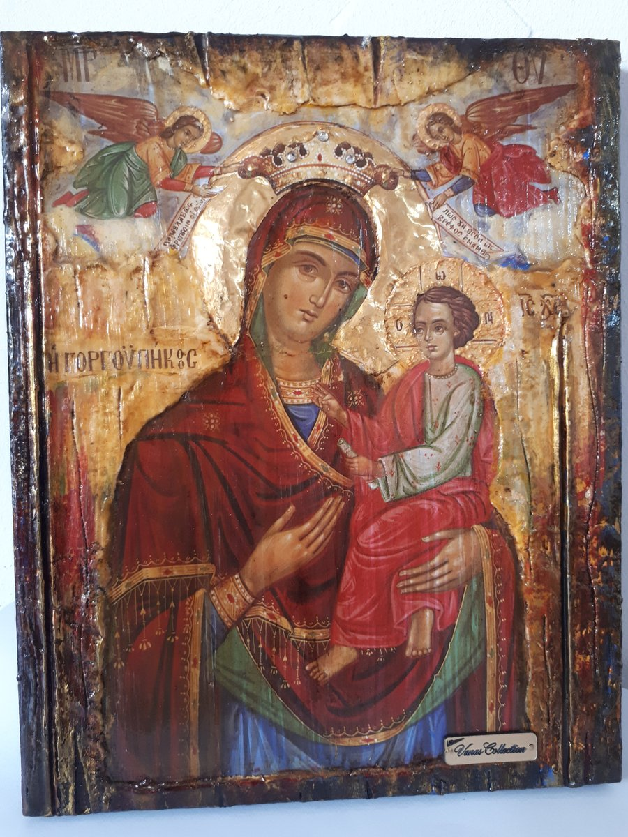 Excited to share the latest addition to my #etsy shop: Virgin Mary Gorgoepikoos -Orthodox Icon Russian Byzantine Icons Antique Style https://etsy.me/2BrQDGh #brown #bronze #greekicons #orthodoxicons #byzantineicons #handmadeicons #woodenicons #religiousicon #antiquestypic.twitter.com/faLfWvm03W