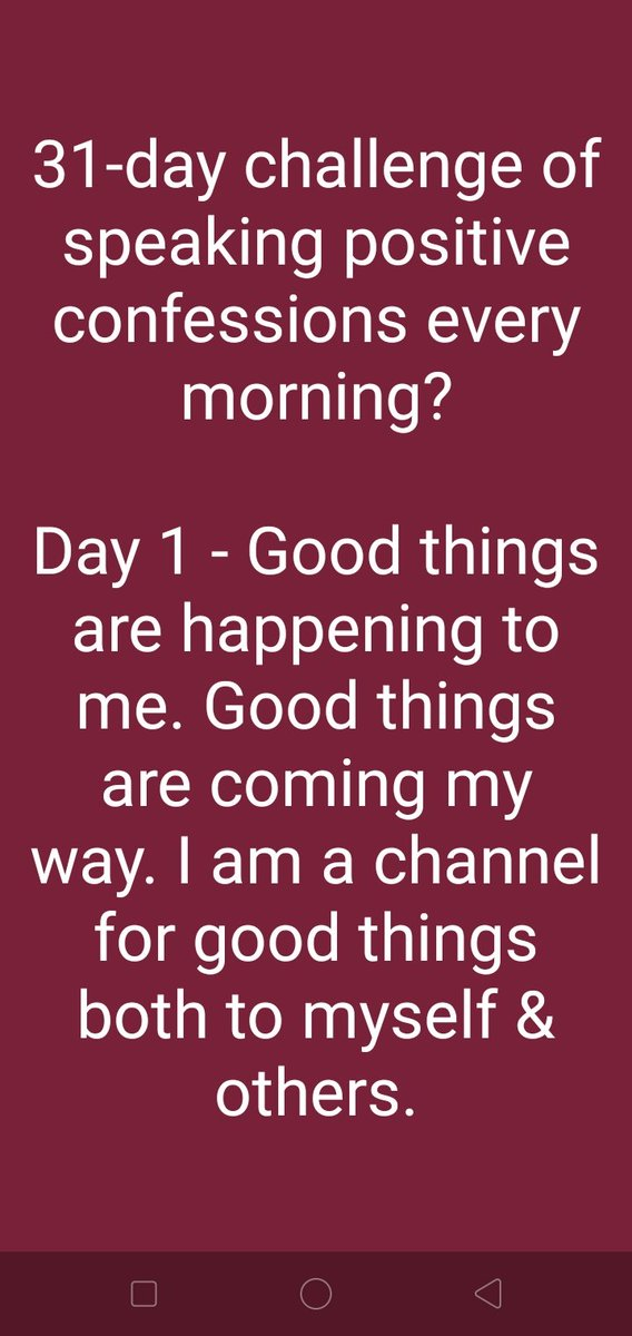 31-Day Challenge of Speaking Positive Confessions #positive #positivity #positivemind #positivevibes #positiveenergy #positivemindset #positivemindsetalways #31daychallengeofspeakingpositiveconfessionspic.twitter.com/hTT7xri6Hq