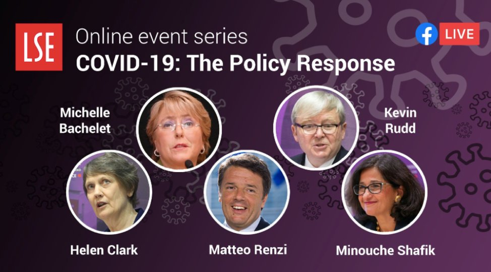 #SaturdayListen Life after #COVID19: challenges and policy responses featuring former national leaders@mbachelet of Chile, @HelenClarkNZ of New Zealand, @matteorenzi of Italy, and @MrKRudd of Australia. ow.ly/QPDq50AnWFf @LSEIGA #LSECOVID19