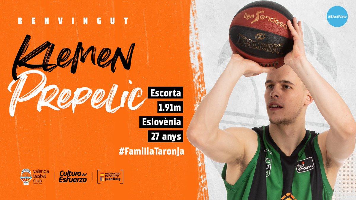 🧡 ¡Bienvenido a la #FamiliaTaronja, @prle_10!  Cas 👉 Acuerdo con Klemen Prepelic para las próximas dos temporadas https://t.co/iMrgIBvBoI  Val 👉 Acord amb Prepelic, 2 temporades https://t.co/jh3URSd3N6  Eng 👉 https://t.co/zIbiVbEWUt  #EActíVate  🤝 Colabora @pamesaceramica https://t.co/RldN6PFQkT