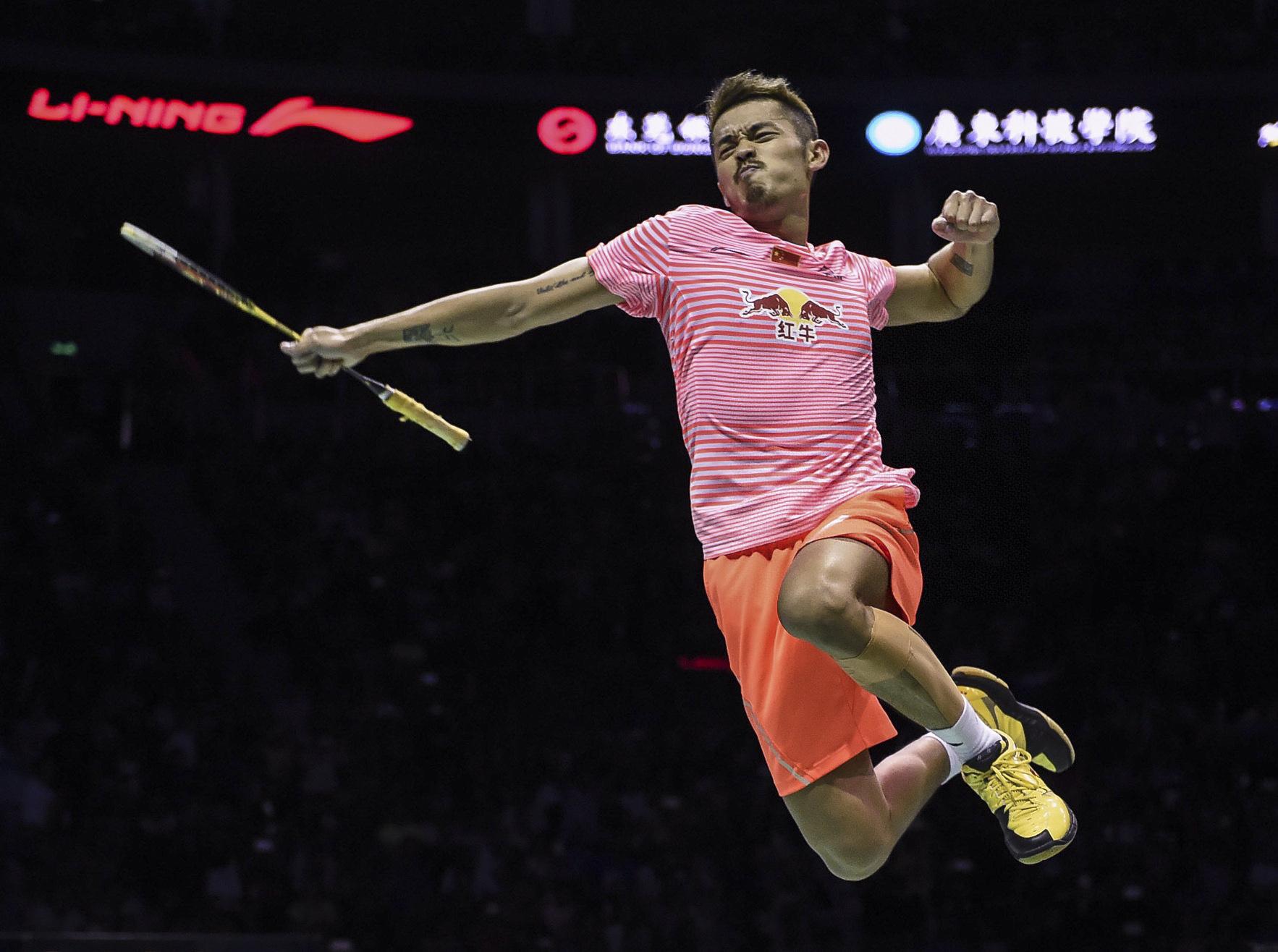 In 2004, Lin Dan was nicknamed 'Super Dan' by Danish Peter Gade after winning the All England final. (Credits: Twitter/ Xinhua Sports)