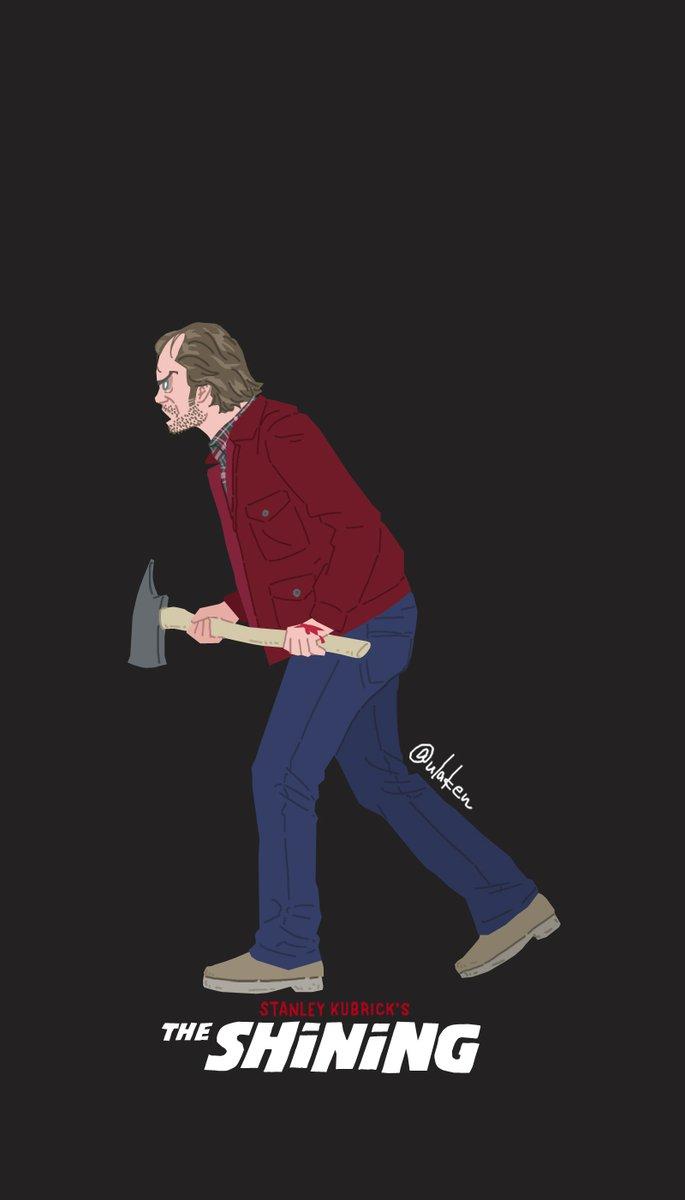 昨日描いた シャイニング を スマホの壁紙風にしてみました T ウラケン ボルボックス なんてこった ざんねんなオリンピック物語 好評発売中のイラスト