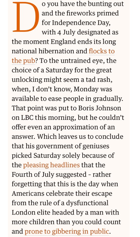 For anyone down their local having a breakfast livener, here's the meaning of this year's 4th of July, from @Freedland https://t.co/m8TPmFnAwC https://t.co/Bz36drH5PI