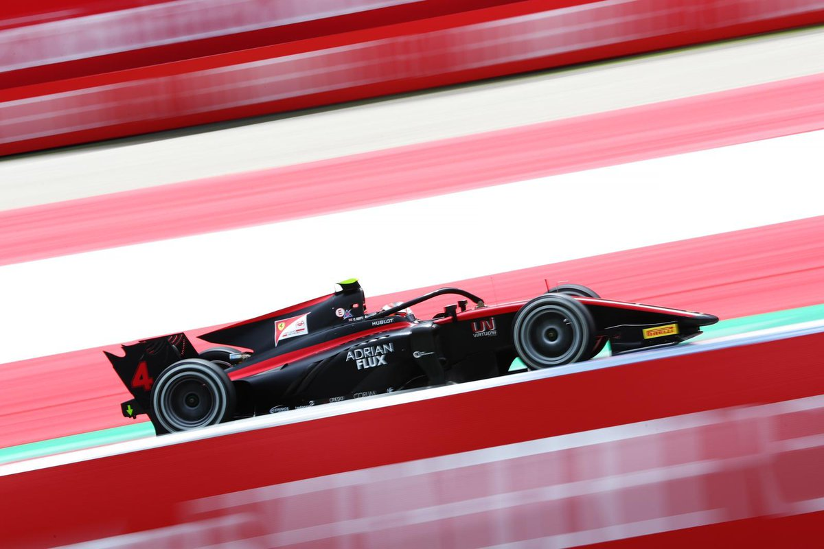 British driver @callum_ilott starts from the 2nd row of the grid later, as the @FIA_F2 race follows straight after the #F1 qualifying.  A chance for a great result for the driver supported by Adrian Flux and @insideFDA for the first #F2 race of 2020  #AustrianGP (📷 @GettyImages) https://t.co/hBJtF4n5do