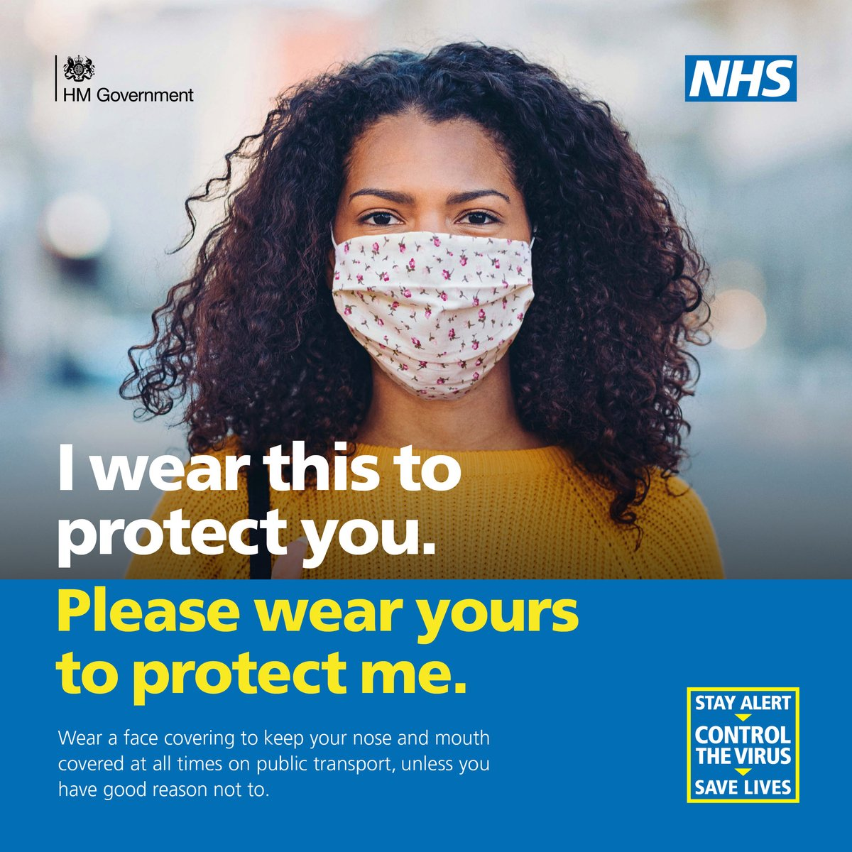 Wearing a #facecovering on public transport helps protect you and those around you from #coronavirus.  Please #StayAlert to #StaySafe this weekend. https://t.co/FcHajIxdq1