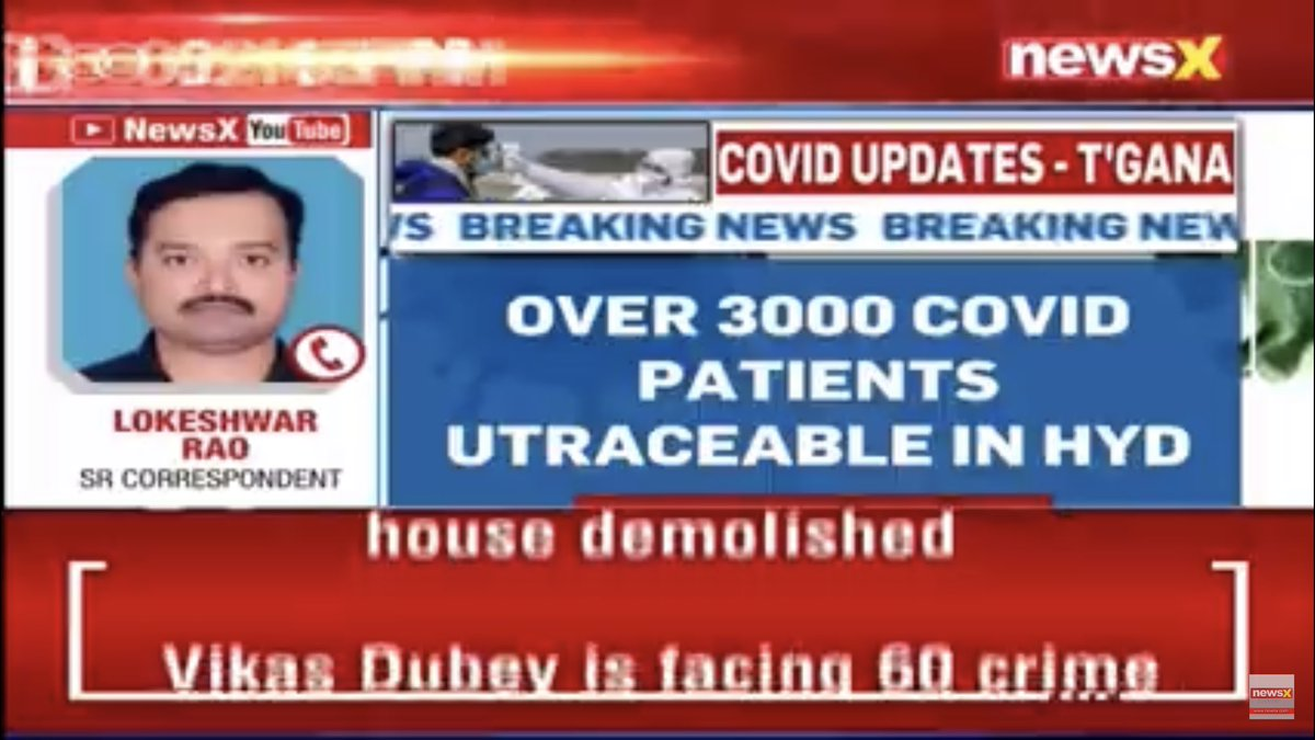 Hyd: Over 3000 corona positives are untreaceble since they were tested positive and escaped - the private labs could not report their addresses properly to the govt of Telangana @TelanganaCMO  private labs served notices https://t.co/UkubI7v3xN