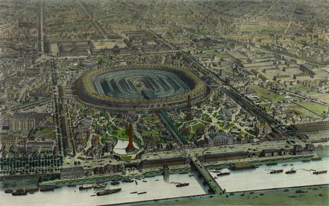 The official bird's-eye view of the Exposition Universelle of 1867, in Paris, #France https://redd.it/afiw8s #MapPorn pic.twitter.com/ggW7TBpfGH