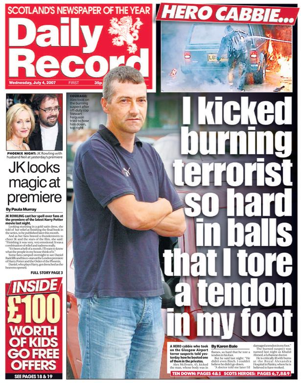 13 years ago today was the most Scottish front page in history.