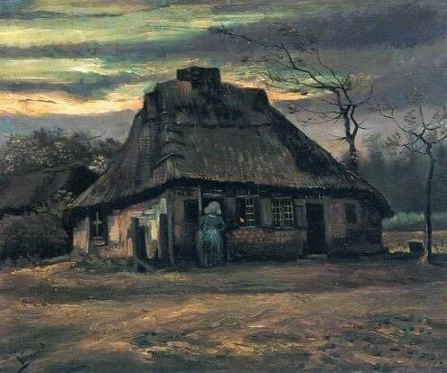 Vincent Van Gogh  Straw hats at dusk 1885 #vincentvangogh #dutch #painting #fineart #arthistory #dailyart #art #artwork #oilpaintings #artoftheday #impressionism #postimpressionism  #artinfinitus #italy #museelouvre #england #paris #france #notredame #netherlands #nederland https://t.co/Zkc8G7y4PD