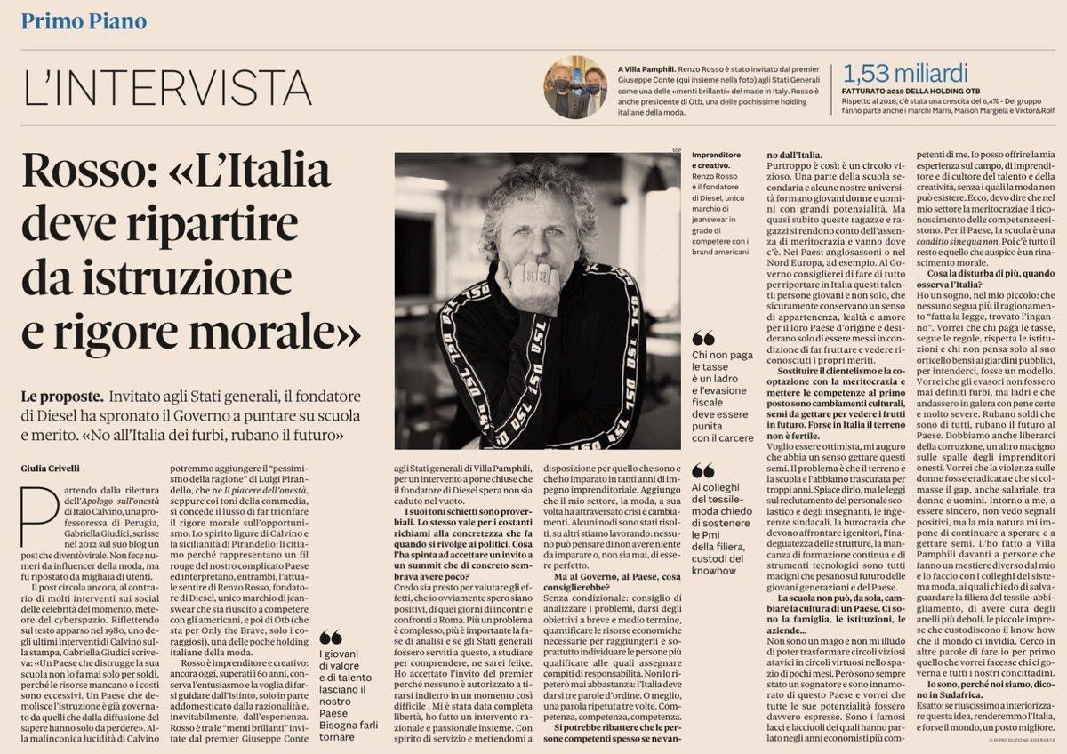 """.@RenzoRosso """"l'Italia deve ripartire da istruzione e rigore morale"""" via @sole24ore   @Quirinale @Palazzo_Chigi @Montecitorio @SenatoStampa https://t.co/bhn8vTP3OQ"""