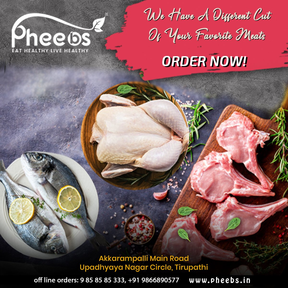 @PheebsMeat assure quality check and well maintained hygienic conditions through healthy processing systems. We maintain standards that safeguard the health and hygiene of our customers.  #Healthy #Meat #Pheebs  Order Now:  Call: +91 9858585333  Visit: https://pheebs.in/ pic.twitter.com/WfQupFNVKm