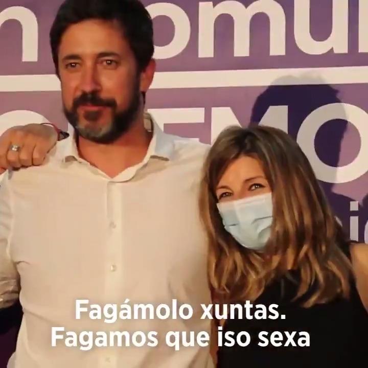 A Galicia que imaxinamos, pode ser unha realidade o 12 de xuño. Claro que é posible unha alternativa á Xunta de Núñez Feijóo. Fagámolo xuntas. Con Galicia en Común - Anova Mareas (@gecam_) #ÉoMomento.
