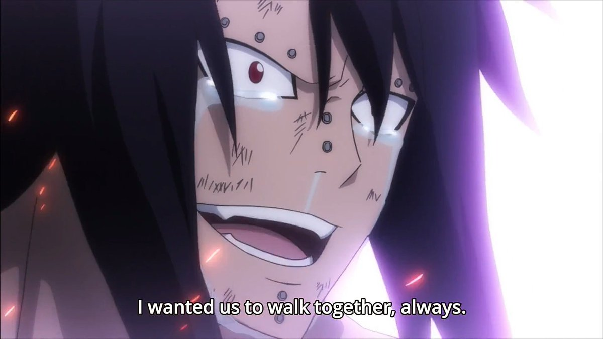 yes i did say i want more gajeel and levy moments but not like this,, and no im not crying. really am not T_T ╯﹏╰ https://t.co/PE1mGVbgNf