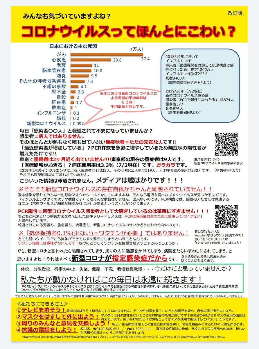 騒ぎ 過ぎ コロナ 【悲報】北野武さん、タブーに触れてしまう「新型コロナってインフルエンザよりショボいのに騒ぎすぎ」