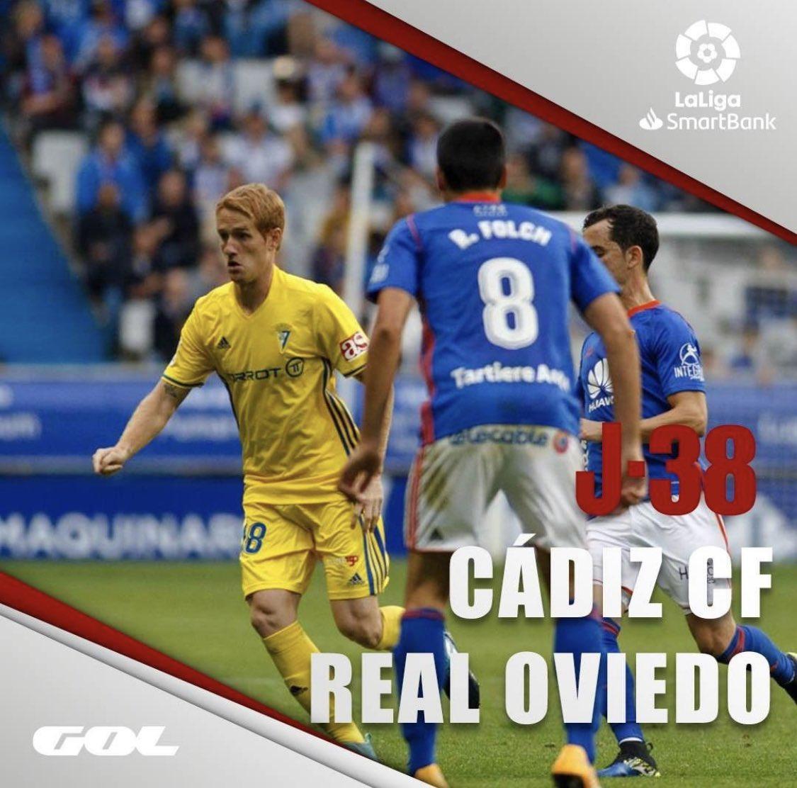 #VolverEsGanar Cómo jugaban el Cuco y Cervera! Mucho #fútbol en la Tacita #jornada38 de @laliga Smartbank  👇🏼  📍 Carranza  ⚽️ @Cadiz_CF @RealOviedo   ⏰ 21:45  📺 @Gol  🎙 @HectorRuizPardo @isaacfouto ☝🏼  #Gol #GolLaLigaSmartbank #LaLigaSmartbank #CádizOviedoenGol #CádizOviedo https://t.co/5dCVhChXjc