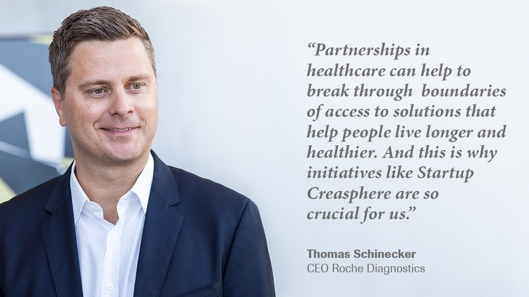 At Startup @StrtpCreasphere we are integrating healthcare expertise, data and technology that can help accelerate innovation together with start-ups and other partners. Read more: https://t.co/ODMU9mWzgO #Diagnostics #Healthcare #Roche #digitalization #startup #digitalhealth https://t.co/Sz2IsXKuOp