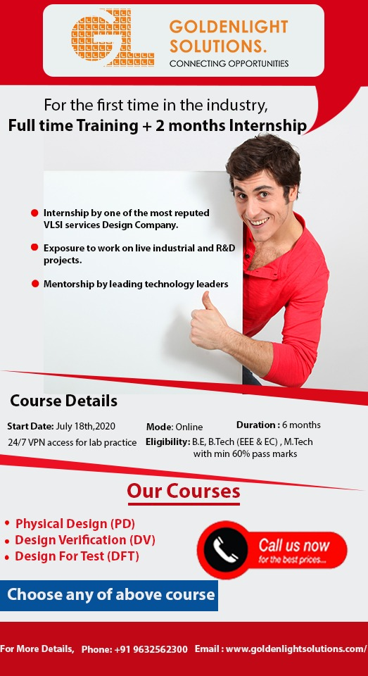 Anybody interested to learn VLSI design? Right time to boost your skills in VLSI industry! Register now - https://bit.ly/2YPibOo  #VLSI #semiconductor #electronics #electronicslovers #electronicsprojects #electronicsengineer #electronicsolution #electronicsecuritypic.twitter.com/Xd07fUfAeY