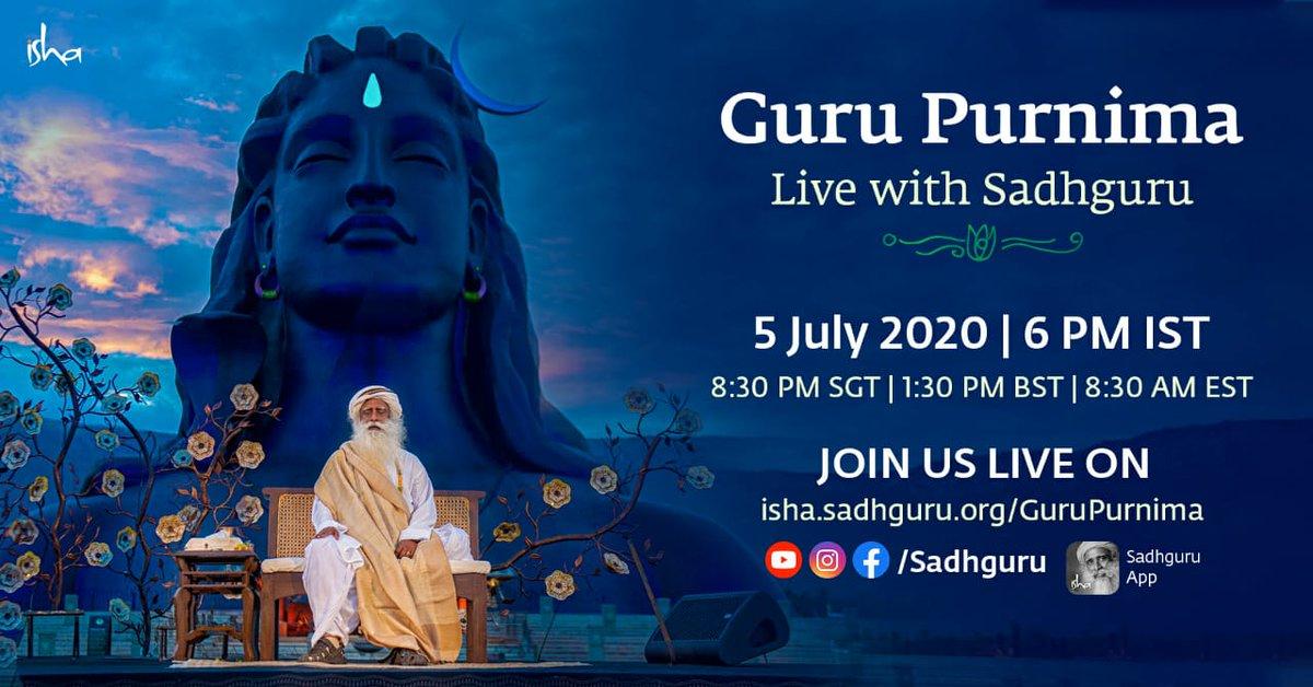 Join GuruPurnima celebrations on July 5th, 7:00 AM - http://tamil.sadhguru.org/gurupurnima #MySadhguruStorypic.twitter.com/wBqn6ph3L3