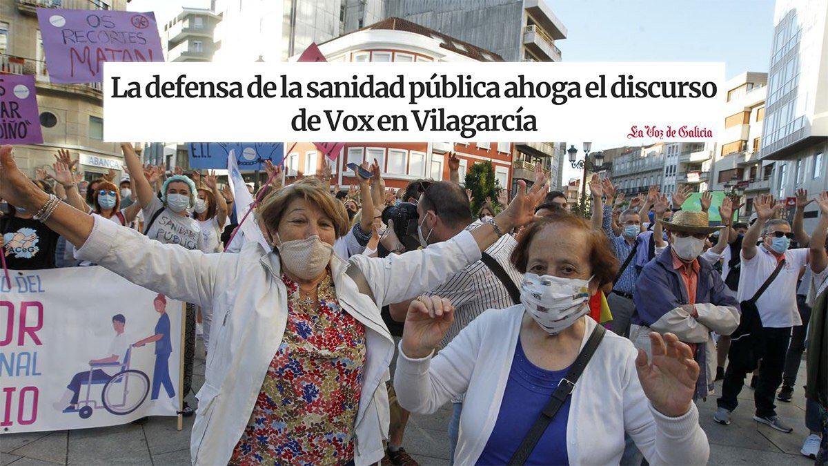 O discurso do odio, da confrontación, de desprezo aos nosos servizos públicos non ten cabida en Galicia. Defender a sanidade pública é defender a vida, un futuro digno na nosa terra. Toda unha lección de dignidade da cidadanía en Vilagarcía. 📎 bit.ly/3iw1QpW