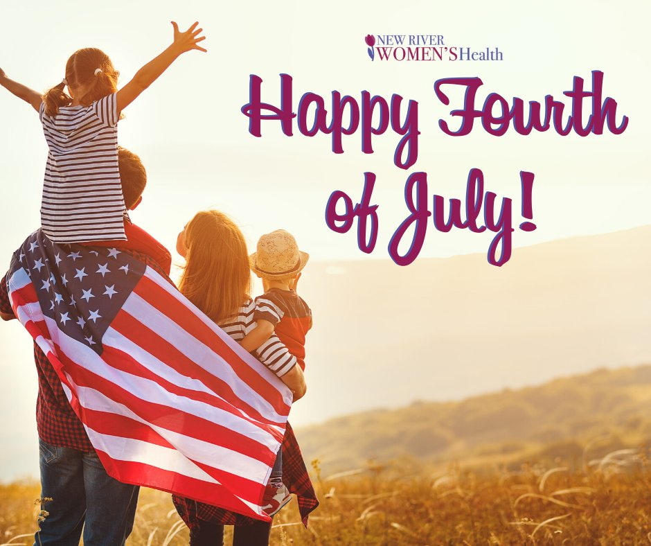 Wishing you and your family a day of celebration and making memories! Happy 4th of July!  . . . . #FourthofJuly  #IndependenceDay  #Celebrate  ##NewRiverWomensHealth  #OBGYN  #BlacksburgVA  #DrCampbell  #BlacksburgOBGYN  #WomensHealth pic.twitter.com/63yySSEcr1