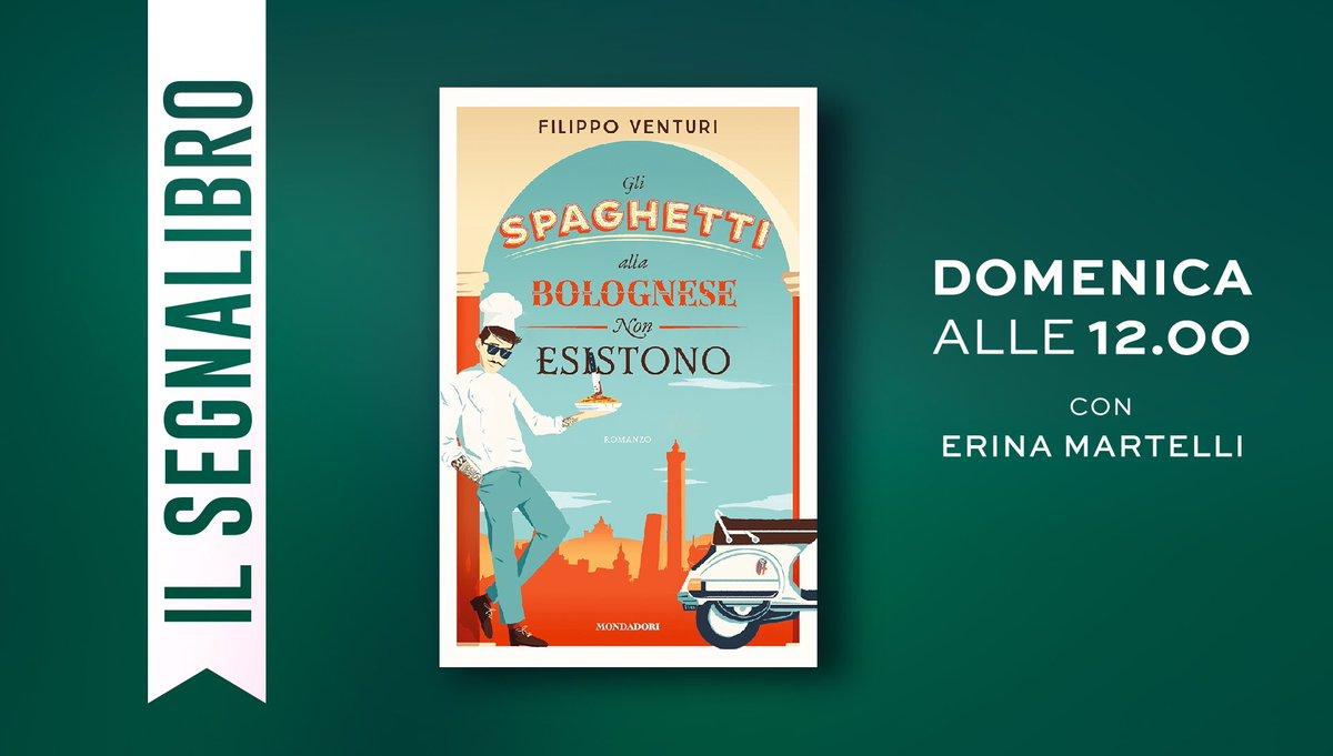 """Domenica nuovo appuntamento letterario con """"Il Segnalibro"""" della nostra Erina. L'ospite di questa puntata sarà @FilippoOssola , autore de """"Gli spaghetti alla bolognese non esistono"""". Vi aspettiamo #onair alle 12! https://t.co/wVaxjuTzWs"""