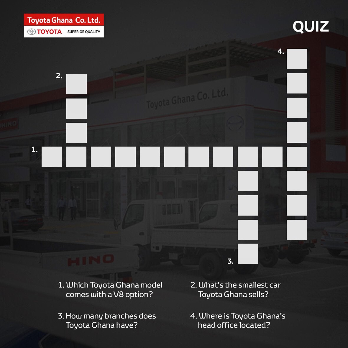 Let's test your knowledge.  #Saturday #Weekend #Trivia #Quiz #Toyota #Ghana #ToyotaGhana #SuperiorQualitypic.twitter.com/215NWL4caL