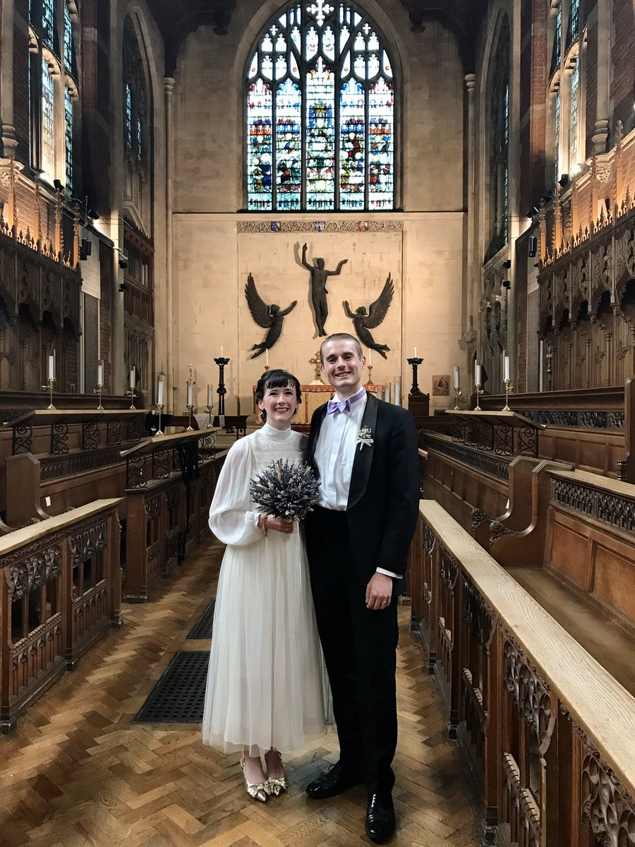 After a v.long delay, Fantastic!! to marry @RidleyHall ordinands Christie & Ryan @ Selwyn College Chapel AND to have communion as pt of the service. Praise God! https://t.co/vTEx5JIxqx