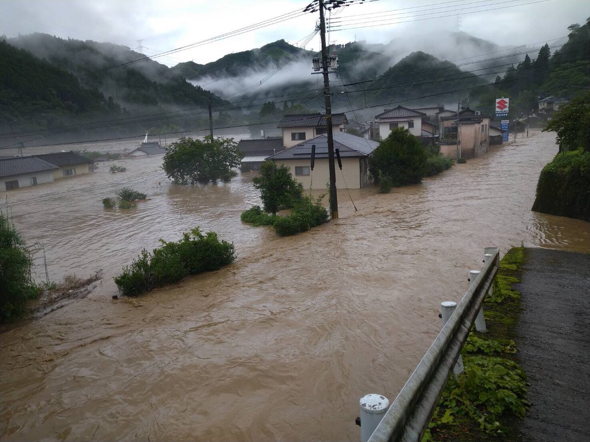 A heavy rain occurred in southern Kumamoto prefecture on July 4. It was an early morning event.  I am worried about the spread of  covid _19 infection. #Kumamoto  #WorldNews  #japan pic.twitter.com/hSnNvYB79q