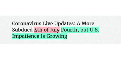 Change in Headline https://t.co/ZjLIht3EkG