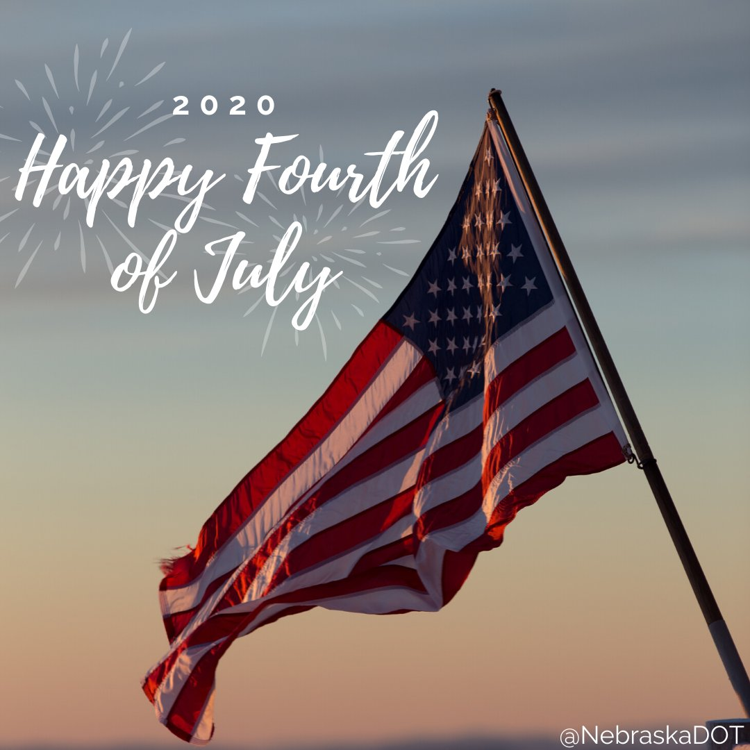 Happy #FourthofJuly from all of us at NDOT! Remember to celebrate #IndependenceDay safely - never let anyone drive after drinking. #DriveSober