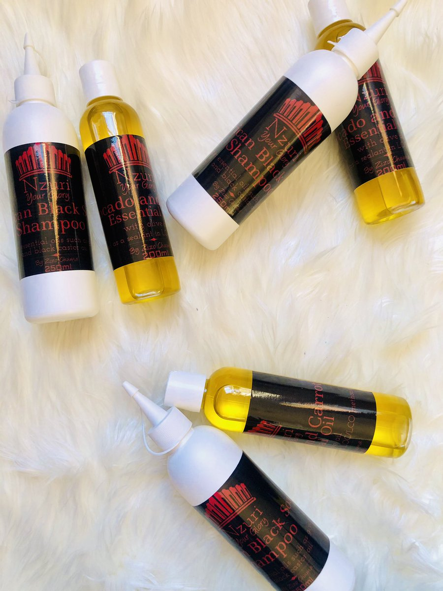 Please support my natural hair business guys  I'm currently having a sale btw: R150 for the African black soap shampoo and an avocado + carrot essential oil. These products are organic and I've had customers telling me that they use the oil for their skin too! #GirlsTalkZApic.twitter.com/G56K7yGLzH  by Anyasatu 👑