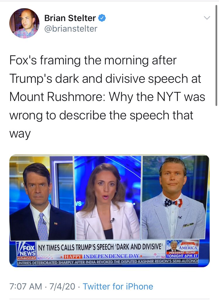 🧵THREAD🧵  In honor of our nation's Independence Day, I've put together side-by-sides of the media's coverage of @realDonaldTrump's speech vs. the text they purport to describe. https://t.co/FTVSdsW3N4