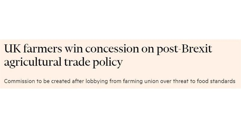 Are you up to date with this weeks media coverage? @Telegraph @thetimes @FinancialTimes @TheSun & @BBCNews all covered the creation of a Trade and Agriculture Commission, focussing the NFU's hard work to make this happen behind the scenes ➡️ ow.ly/thaT50Ap0fE
