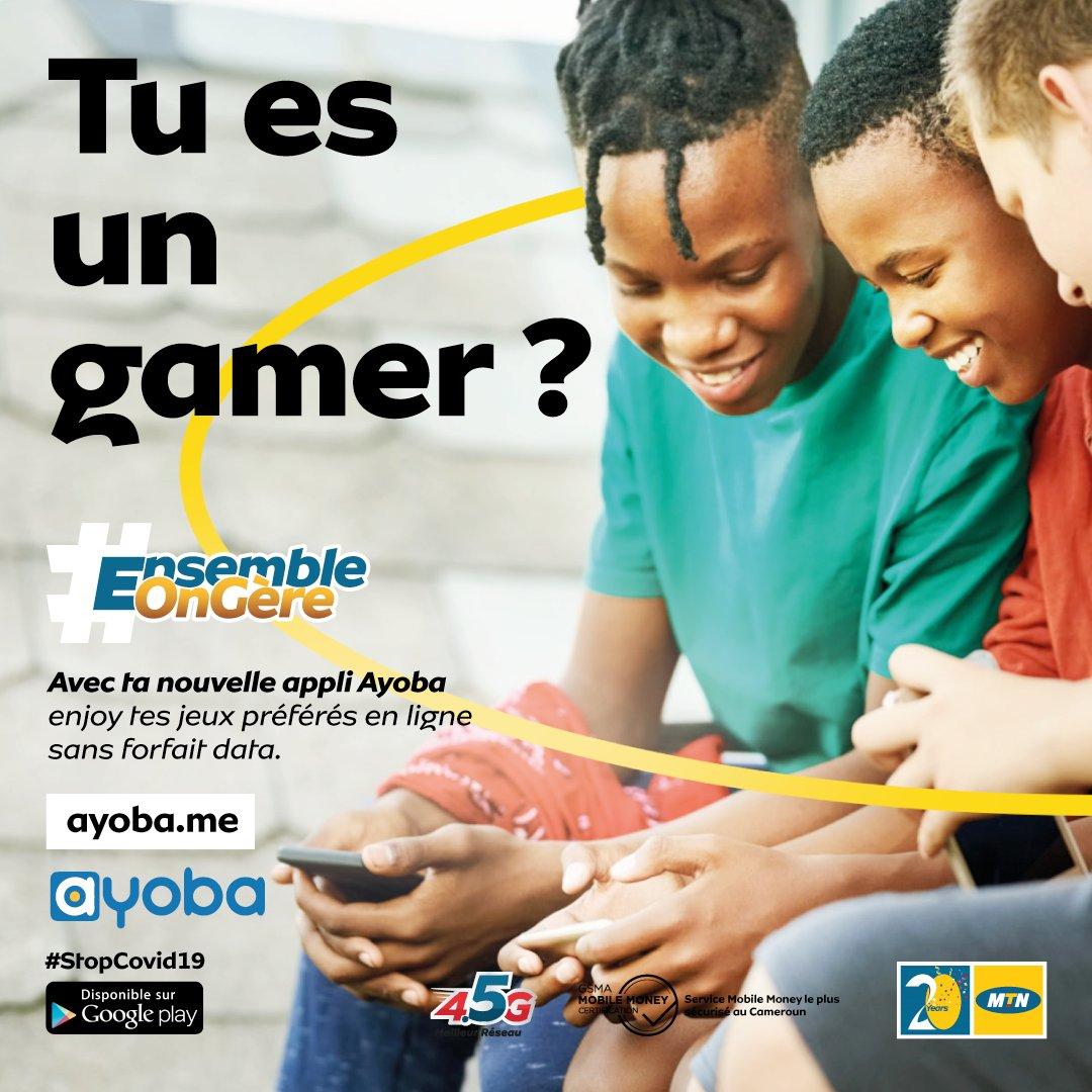 Y'ello! Oui les gars, c'est vrai ! Sur Ayoba, tu peux jouer à tous tes jeux favoris sans consommer ta data et surtout, c'est gratuit !! Télécharge Ayoba et le tour est joué ! Clique ici https://t.co/7lkxhVgyUl  #EnsembleOnGere #Ayoba https://t.co/6X2IaeeQRU