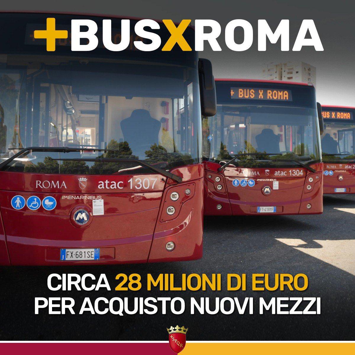 Risaniamo i conti e aumentiamo gli investimenti per la nostra città: siamo pronti ad acquistare oltre 80 nuovi autobus per Roma. Nell'ultima variazione di Bilancio abbiamo aggiunto circa 28 milioni di euro per il rinnovo della flotta: bit.ly/2BAQoZp