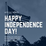Image for the Tweet beginning: Happy Independence Day! Wishing you and