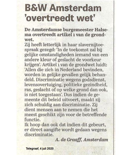 Burgemeester Femke Halsema wil autochtone Amsterdammers gaan discrimineren. https://t.co/mtudeQaKyP