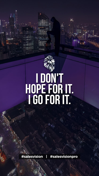 I Don't Hope For It, I Go For It  #success #entrepreneur #homebusiness #workathome FREE Access>> http://www.residualgenius.com/SalesVisionpic.twitter.com/Dcuh7rA0us