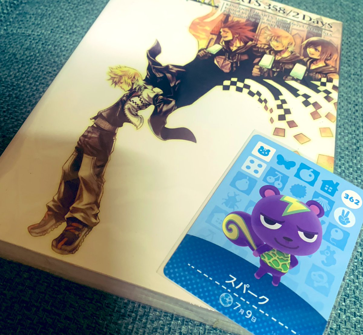 キングダムハーツの攻略本買いに行った万代で500円のamiiboカードガチャ引いたらスパークくん出た〜!!!!攻略本間違えて買っちゃったけど、全然オッケー👌✨✨5億年ぶりにあつ森やりたくなった☺️(でも雑草とGが怖くてできない…)