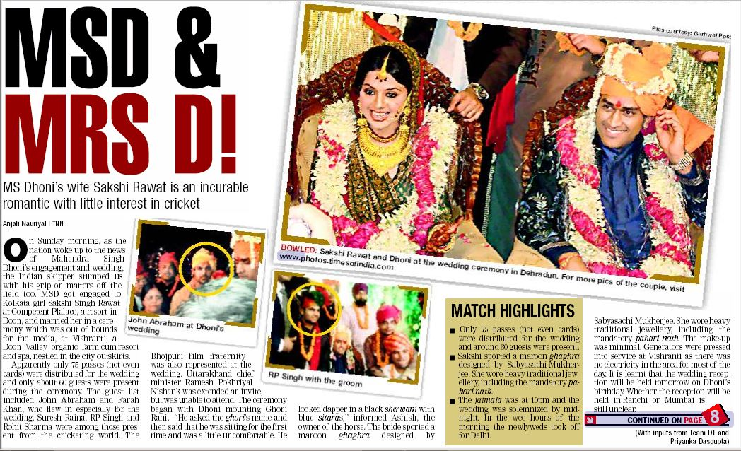 #ThisDayThatYear: On @msdhoni and @SaakshiSRawat's 10th wedding anniversary, a #throwback to this story from our archives from the day when Mahi entered the best partnership of his life  #MSDhoni #MSDians #MahendraSinghDhoni #SakshiRawat #SakshiSinghDhoni<br>http://pic.twitter.com/M2TZK1MZrk