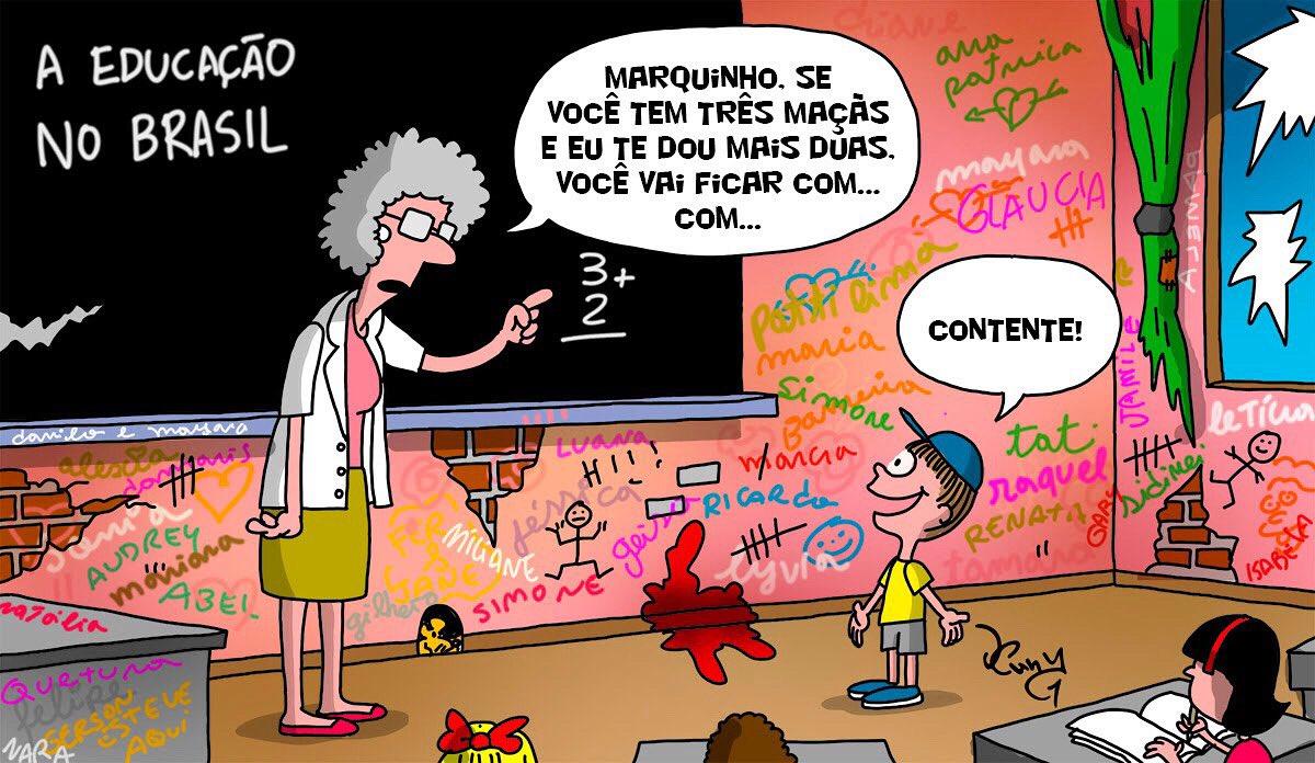 Charge do dia #charge #cartoon #illustration #ilustración #desenho #humor #ilustração #quadrinhos #piadas #tiras #drawing #art #design #ilustration #chiste #dennydesign #professor #photoshop #comics #Educacao #escolapic.twitter.com/DNKZtbsJH1