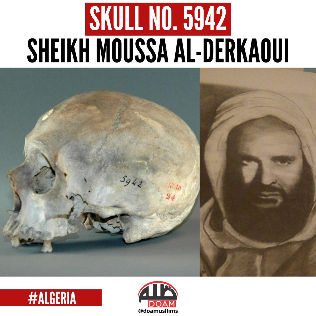 "زاھىد ئەختەر - Zahid Akhtar on Twitter: ""Skull No. 5942 #France returned  the skulls of 24 #Algeria